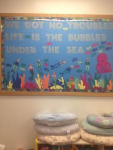 Under the sea themed bulletin board