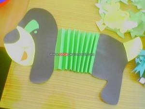 accordian dog craft