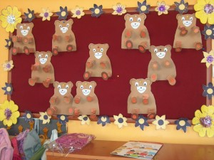 accordion bear craft idea for kids