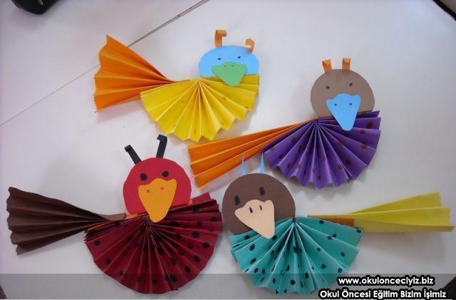 accordion bird craft
