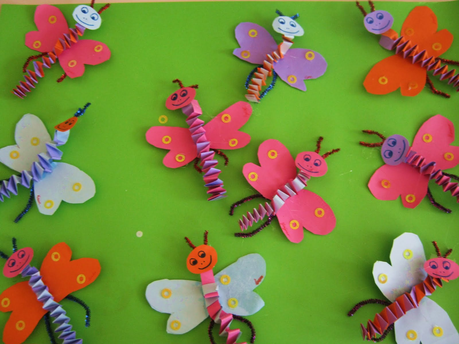 accordion butterfly craft