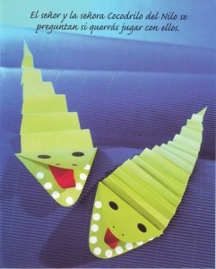 accordion crocodile craft for kids