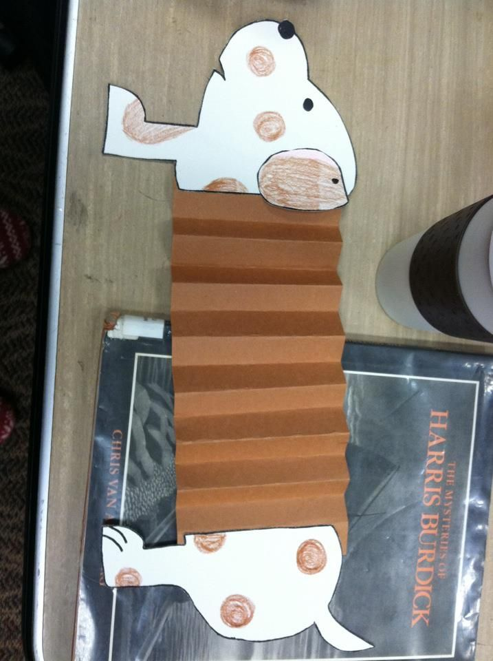 accordion dog craft for kids