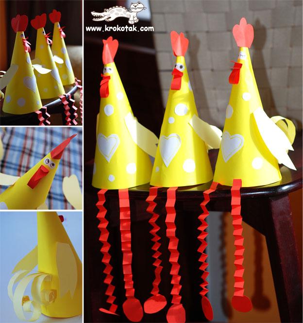accordion hen craft