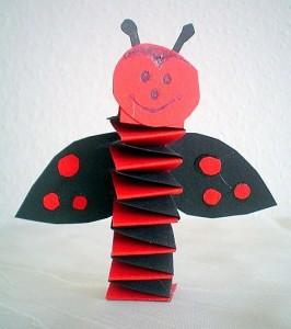 accordion ladybug craft