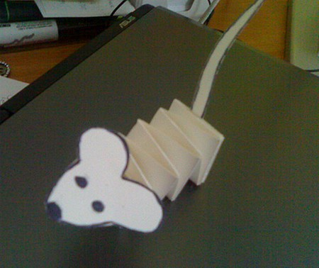 accordion mouse craft