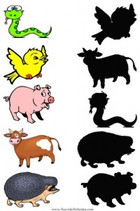 animal shadow match worksheets (1)