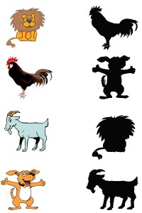 animal shadow match worksheets (11)
