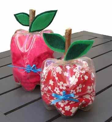 apple Plastic Bottle Crafts