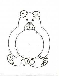 bear clock craft template