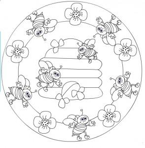 bee mandala coloring