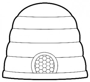 beehive coloring page