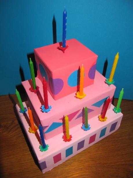 box birthday cake craft