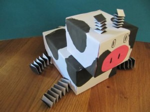 box cow craft for kids
