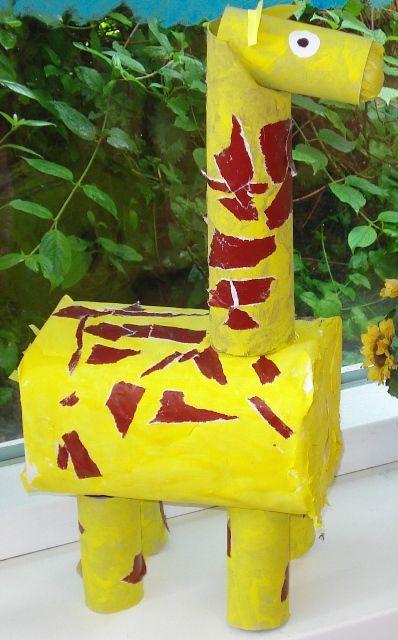 box giraffe craft