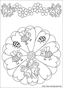 bugs  mandala coloring page