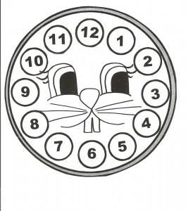 bunny clock craft for kids (4)