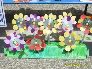 cd flower craft for kids