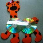 cd giraffe craft for kids
