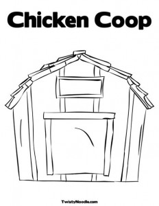 chicken coop coloring