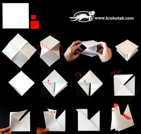 chicken origami 1