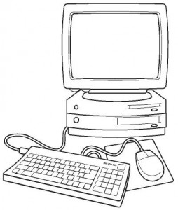 computer coloring page