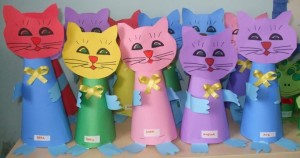 cone shaped cat craft
