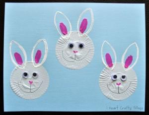 cupcake liner bunny craft