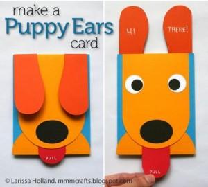 dog card craft