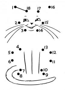 dot to dot cat worksheet