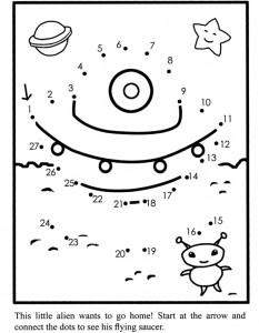dot to dot flying saucer
