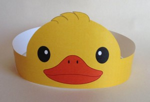 duck paper crown craft