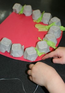 egg carton dental craft