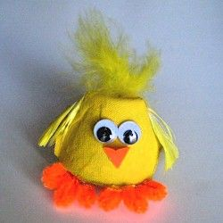 egg cartoon chick craft