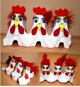 egg cartoon hen