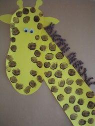 fingerprint giraffe craft