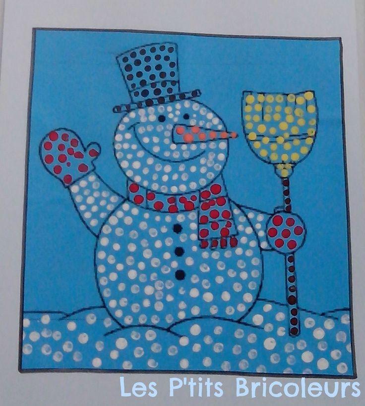 fingerprint snowman craft