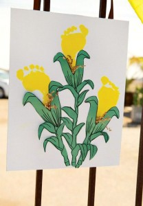 footprint corn craft for kids