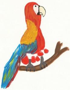 footprint parrot craft