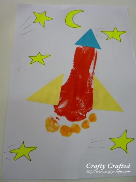 footprint rocket craft for kids