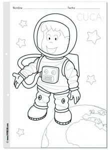 free Astronaut coloring pages for kids