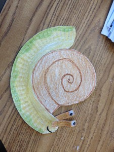free Paper plate snail craft