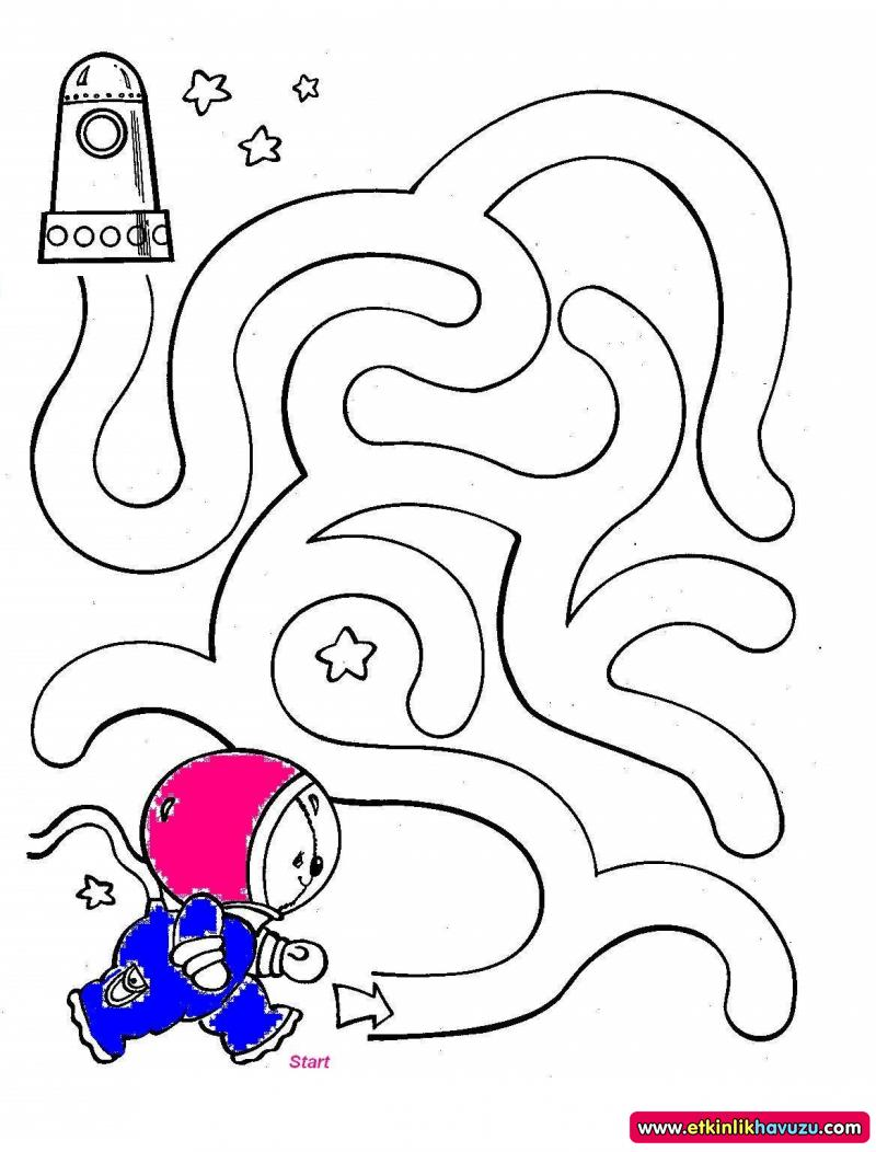 free astronaut maze worksheet