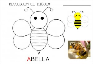 free bee trace worksheet