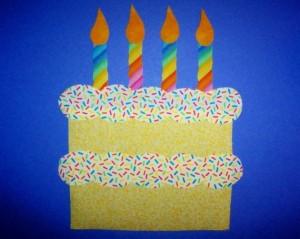 free birthday cake craft