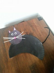 free paper plate cat craft