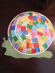free paper plate snail