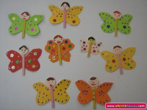 free popsicle stick butterfly craft