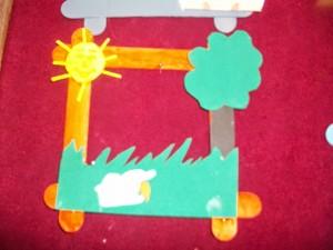 free popsicle stick frame craft (4)