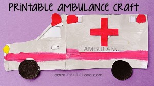 free printable ambulance craft page